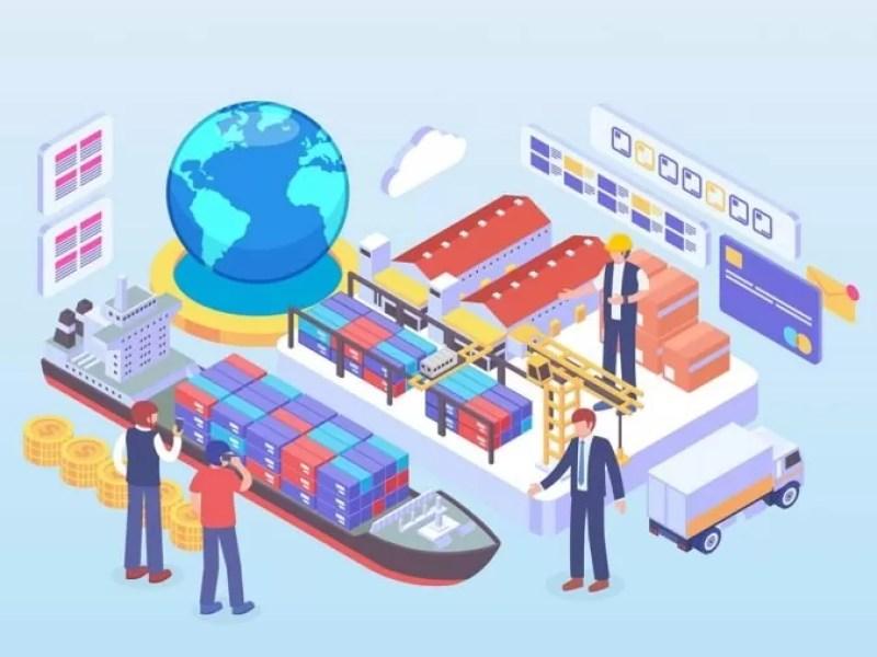 Foto ilustrasi perdagangan internasional