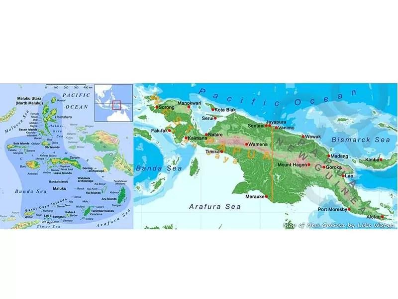 Kondisi Geografis Pulau Papua dan Maluku