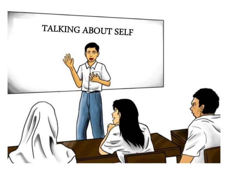 talking about self