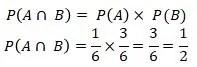 Dua buah dadu dilempar oleh Roni. Tentukan peluang jika pada dadu pertama angka yang muncul adalah angka genap prima dan angka genap ganjil di dadu kedua.