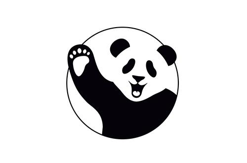 Negative Space, projekt logo dla Cbd by Panda.