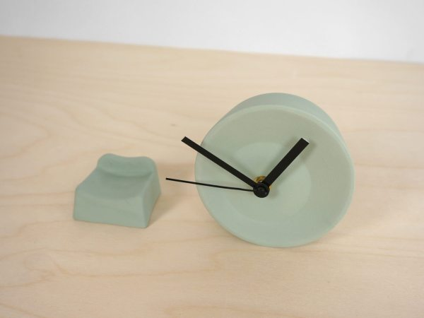 C09-1 Off center clock - studio lorier parts small clock ceramic clock hands