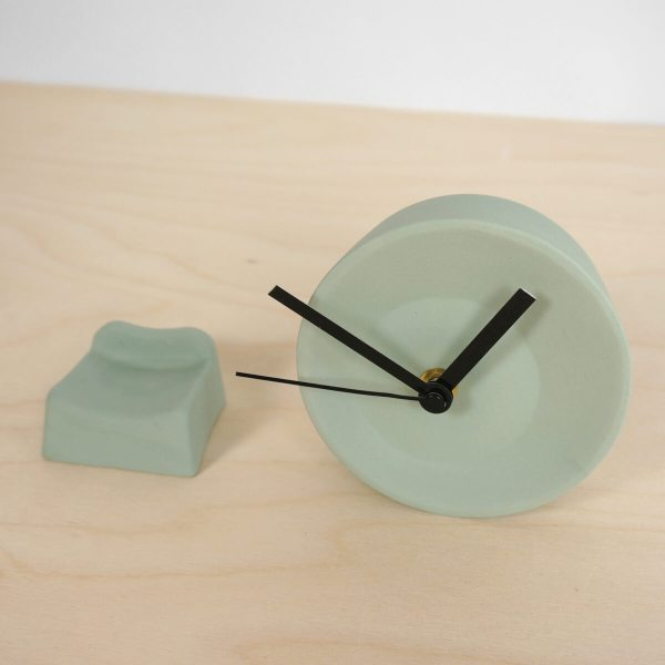 C09-1 Off center clock - studio lorier parts small clock ceramic clock hands