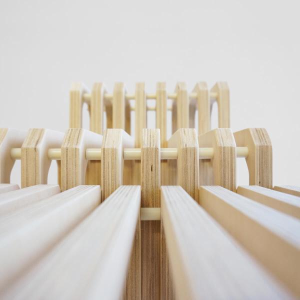 side view Parallel shelf 2016 studio lorier modular shelving