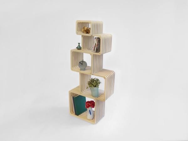 stacked on top Parallel shelf 2016 studio lorier modular shelving