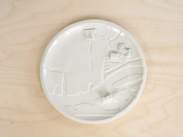 C08 - top2 rotterdam bebouwde kom - city plate city dish - sushi plate - dish - studio lorier
