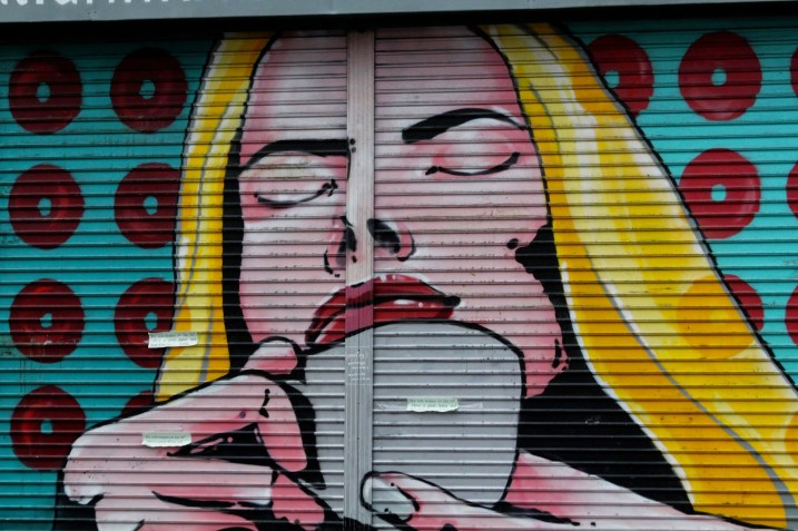 Artwork adorning Wall and Kehoe Tea House, Dublin.