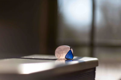 Glass and Stone, our fragility and strength side by side. ©2018 Lucy Mathews Heegaard