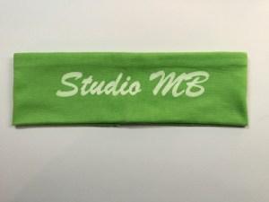 Green Headband White Logo Text