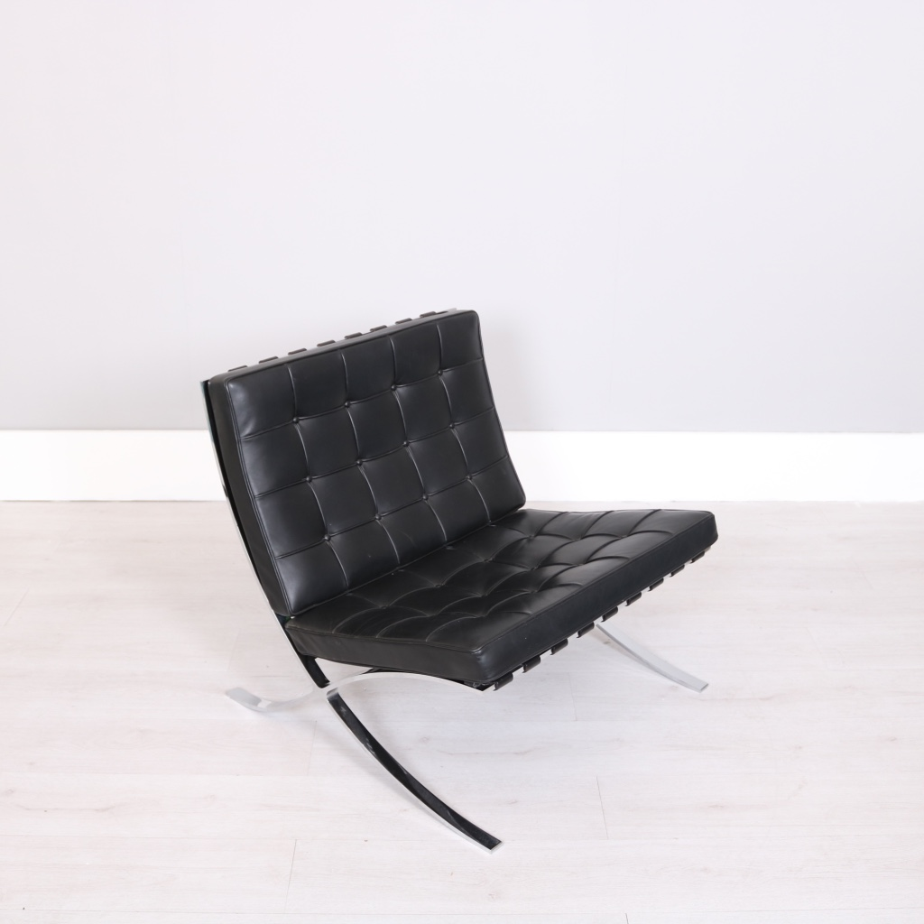 barcelona chair used anti gravity sex knoll studio mies van der rohe studiomodern