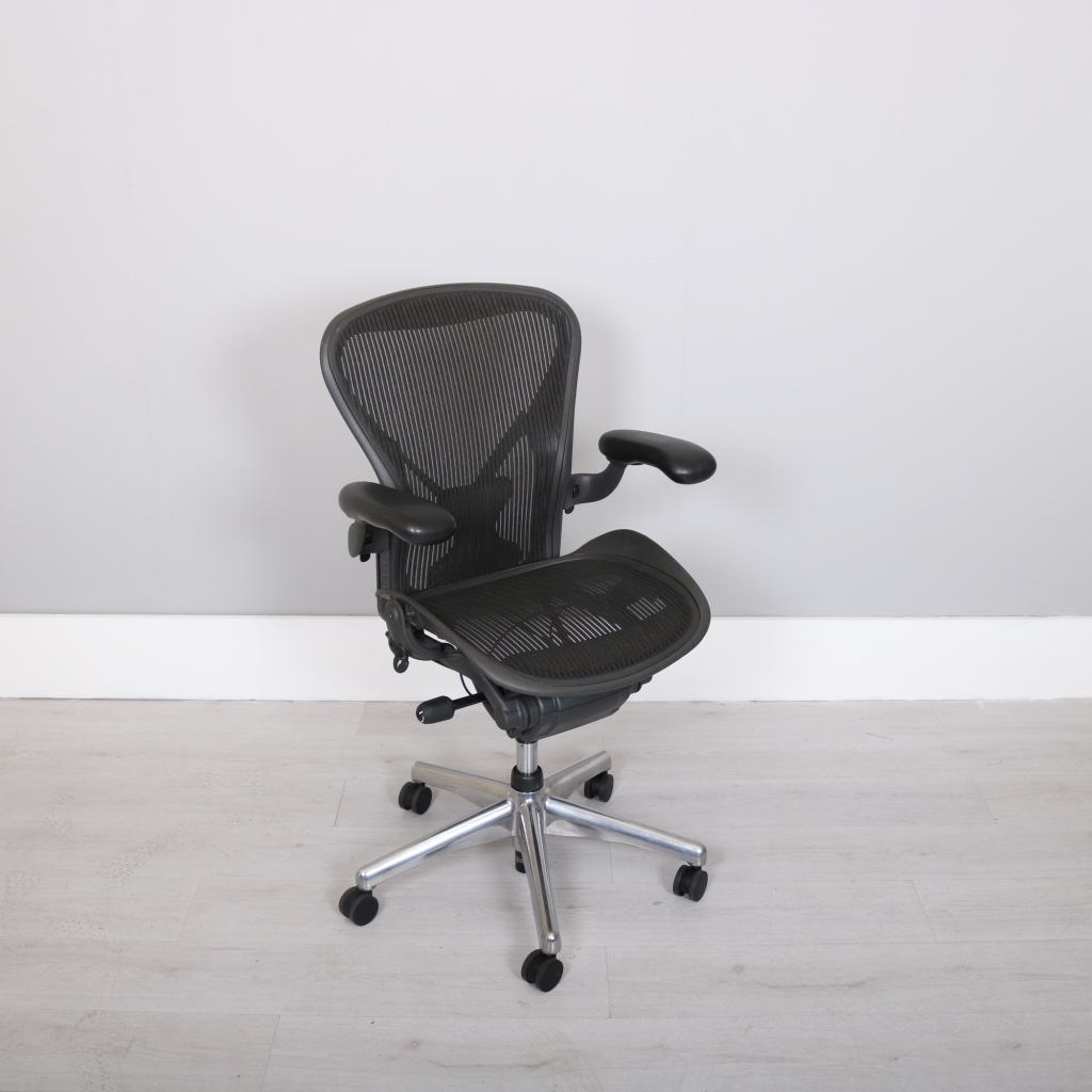 posturefit chair grey rocking nursery herman miller exec aeron studiomodern
