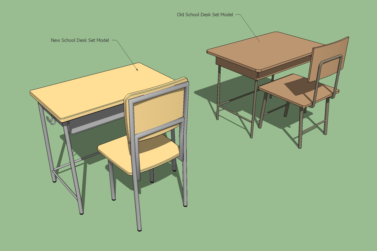 School Desk And Chair Im Still Alive You Know Studio Mugenjohncel