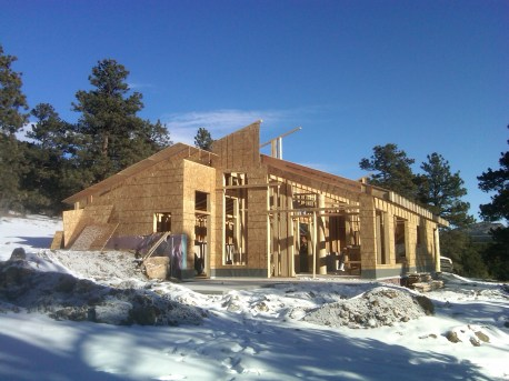South Elevation of Home and view of Sun Deck (and future Hot Tub!)