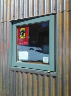 Steel Window Flashing and Corrugated Steel Siding