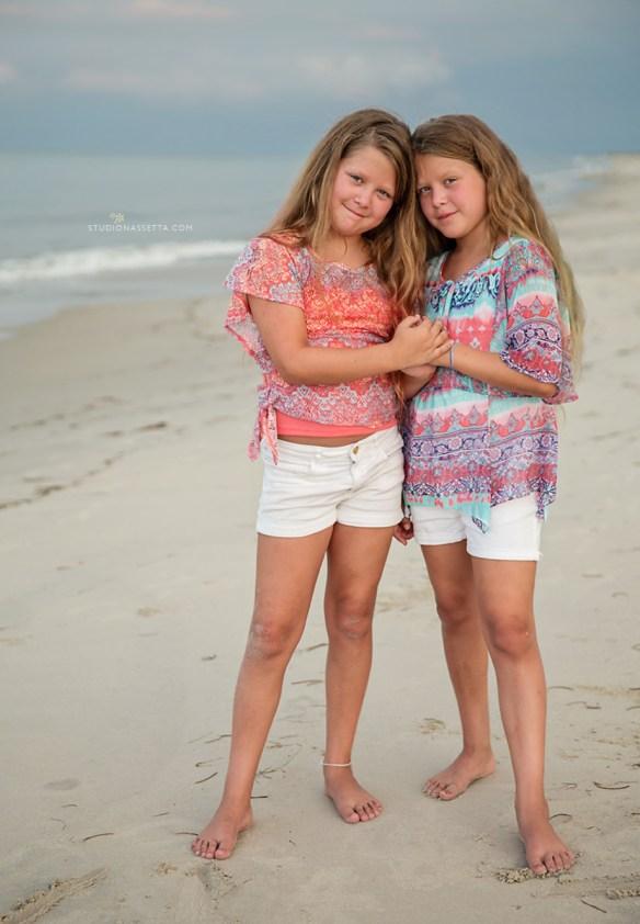 twin girls tween portrait nagshead nc