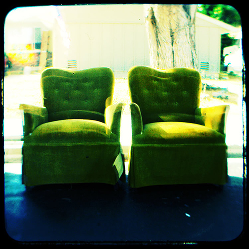 Two Green Chairs by Rustman