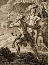 Massacre de MM. De Langle, Lamanon et de dix autres individus des deux équipages. Atlas du voyage de De La Pérouse, 1797