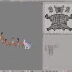 3D render rabbit lowpoly model