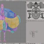 3D render turkey lowpoly model