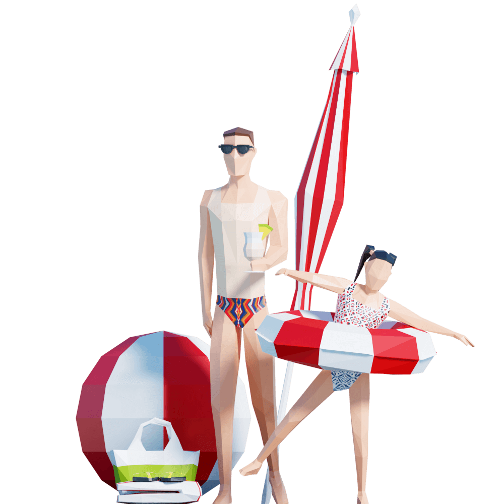 Lowpoly People 3D Models for Architectural Visualization by