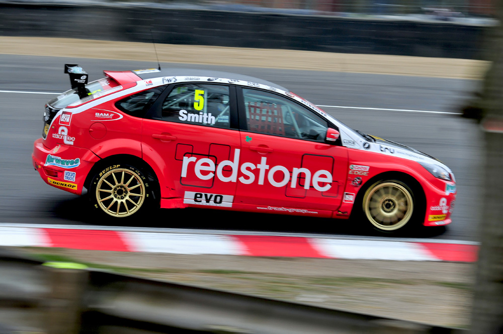 Árón Smith in the Ford Focus ST for Redstone Racing, during qualifying for the opening round of the BTCC. 31/03/2012