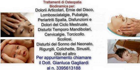 Trattamenti di Osteopatia Biodinamica per svariati disturbi