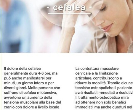 OSTEOPATIA BIODINAMICA E CEFALEA