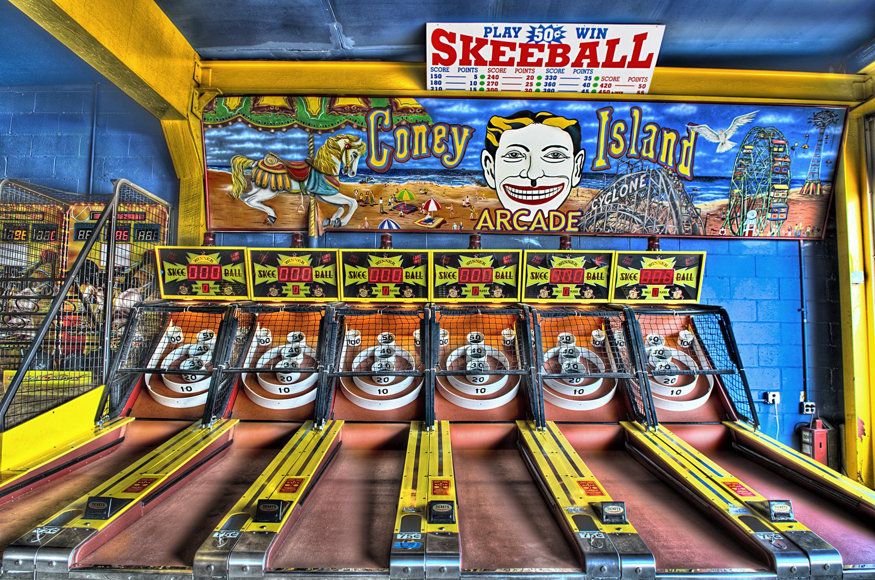 SkeeBall, Coney Island, NYC