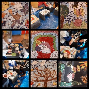 Mozaïekbankjes NL Doet Basisschool