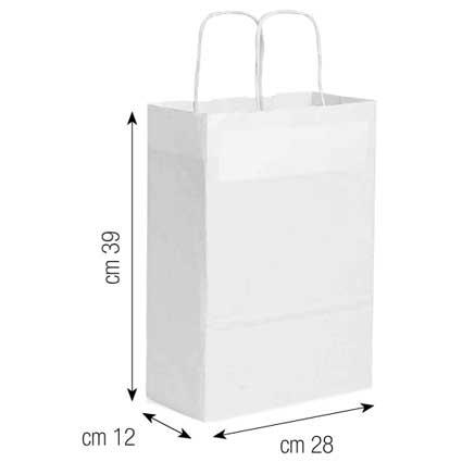 Shopper in carta 28x39x12 bianco