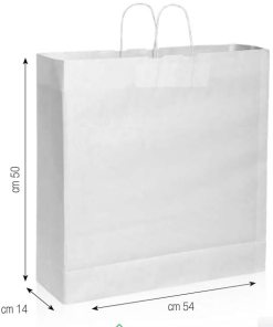 Shopper in carta 54x50x14 bianco