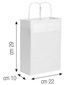 Shopper in carta 22x29x10 bianco
