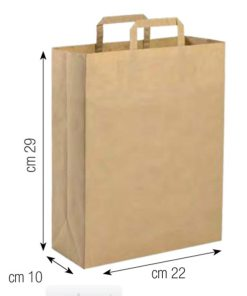 Shopper in carta 22x29 naturale