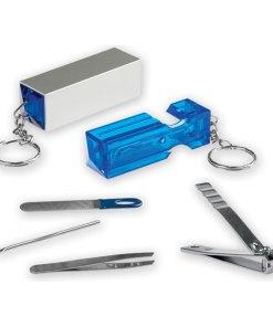 Portachiavi set manicure tascabile