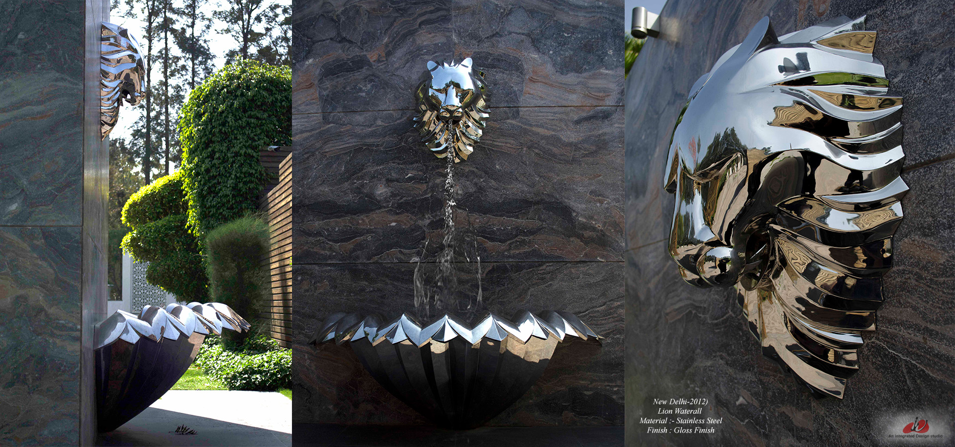 Stainless Steel water Fountain Sculture