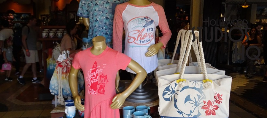 Great selection of beach merchandise is now awaiting shoppers at Carthay Circle on Disney's Hollywood Studios Sunset Blvd.. Photo by John Capos