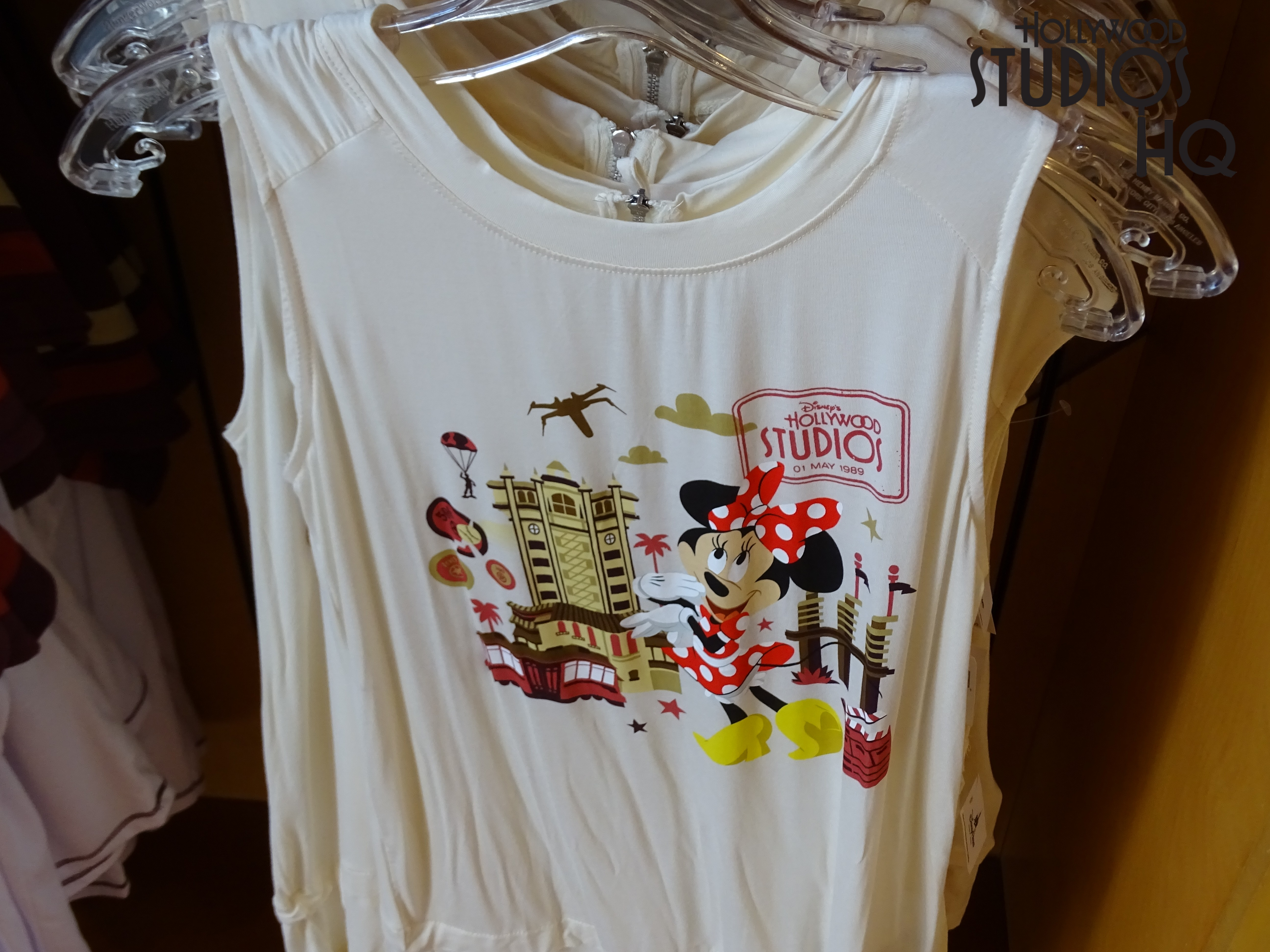 All Studios merchandise is now also featured in Mickey's of Hollywood, in addition to the month long selection at The Tower of Terror gift shop. Mugs, sweatshirts, shirts, button down shirts, luggage tags and so much more await those shopping for merchandise with a special Studios touch.