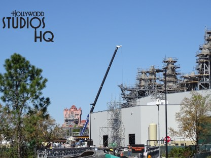 New this week is a great report of construction progress on the Star Wars Galaxy's Edge. The Planet of Batuu received a mountain peak on their main formation.  Also, crews have now enclosed the main building from the back to the front! Meanwhile, don't forget fans can stir up their anticipation by attending the May 27 Star Wars Galactic Nights at Hollywood Studios event. Enjoy the pictures and video below! Disney's Hollywood Studios. Photo by John Capos
