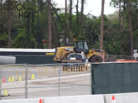 As of this week's posting, approximately half of the Stage parking lot section is closed due to construction. More zigs and zags to enter the Studios from Lake Buena Vista Drive have been added as construction continues to test visitor driving skills. Anticipate a u-turn just past the current parking booth on a paved lane that is also shared with Disney transportation buses. With all the new barricade placement this week to protect guests on foot from vehicles , allow extra time and equal patience when departing the lot right at closing time. Photo by John Capos