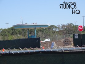 "Take note that the ""Stage"" parking section is still under partial construction. The new vehicle entrance paved drives look better almost weekly as crews complete the new entrance way to Disney's Hollywood Studios. Meanwhile, the Skyliner Gondola construction is still going strong as shown in the updated pictures below at Disney's Hollywood Studios. Photo by John Capos"