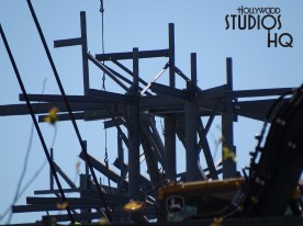 View the latest photos regarding progress this week as construction crews continue closing in the back of the main building, wielding metal, and various crane work. Pictures below capture the end of the work day with a final glow from a beautiful Florida sunset. Remember to check in with Hollywood Studios HQ at least weekly for the #1 source of accurate and in-depth news on Star Wars: Galaxy's Edge at Disney's Hollywood Studios. Photo by John Capos
