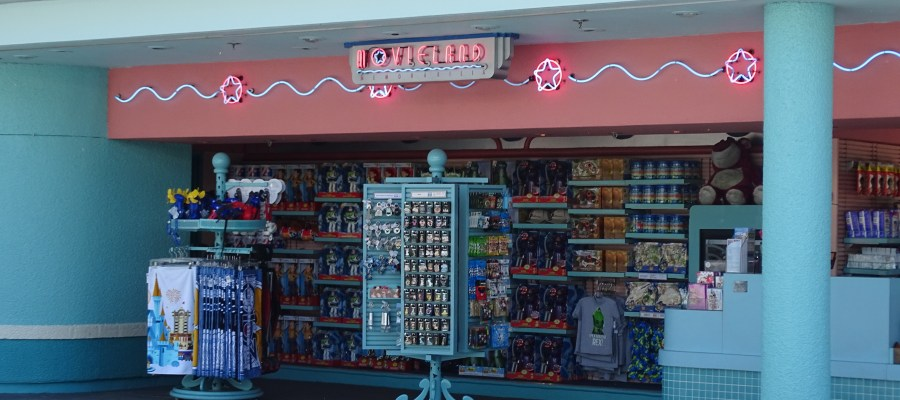 New Disney merchandise news just in time for Easter crowds comes from Movieland Memorabilia, the outdoor merchandise location that is uniquely located half inside and half outside the Park gates. Along with the selection of gifts, toys and souvenirs, take notice next visit of a new look to their main Toy Story merchandise display. Likely a marketing ploy to tempt shoppers to select from their long standing great Toy Story product selection at Disney's Hollywood Studios. Photo by John Capos