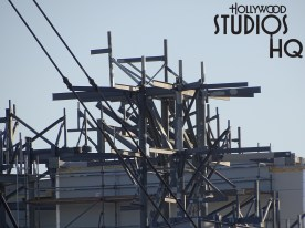 New photos below reveal some continued work activity on the back side of the new planet named Batuu. Meanwhile, not much new progress visible from the Grand Avenue viewpoint at the moment at Star Wars Galaxy's Edge Planet of Batuu Disney's Hollywood Studios. Photo by John Capos