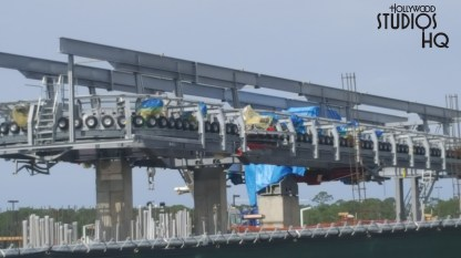 New circular steel structures and additions above the gondola cable system drive wheels are visible in the brand new photos below. The Park's Skyliner guest arrival and departure station continues to take shape. This station will enable guests to eventually travel on the gondola transportation system directly to Disney's Caribbean Beach Resort with additional Skyliner routing to either Disney's Riviera Resort or and EPCOT, or onward to the station serving both Disney's Art of Animation Resort and Disney's Pop Century Resort. Disney's Hollywood Studios. Photo by John Capos