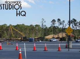Guests arriving to the current vehicle parking areas from World Drive will quickly notice a large paved area now visible on the right hand awaiting final completion of striping and lighting. As photos indicate below, crews are completing the final removal of chain link construction fencing and poles while heavy equipment rumbles in the near distance to prepare the future main visitor entrance roadway. All this in preparation for the anticipated crowds that will be eager to experience the Toy Story Land debut in June, followed in 2019 by the Star Wars: Galaxy's Edge. Disney's Hollywood Studios. Photo by John Capos