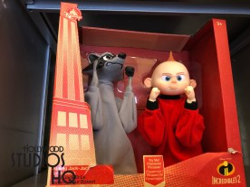 Incredibles 2 motion picture merchandise now occupies the Reel Vogue store main display location that formerly highlighted Toy Story themed products. Fans of this soon to be released motion picture truly have an incredible selection of Incredibles 2 products. Shoppers can select from realistic adult and child size Mr. Incredible costumes, detailed action figures, a 72- piece tub of miniature heroes and villains, infant themed clothing as well as Incredible Dad and Mom mugs. Merchandise also includes matching Couples tee shirts, Pop figures of the Incredibles 2 family, and toy cars for the youngsters, a variety of family character plush, and even a unique Edna wig. All these themed products are pictured below. Toy Story fans still have a plentiful merchandise selection which has been magical relocated inside Reel Vogue by replacing other Pixar film products. Disney's Hollywood Studios. Photo by John Capos