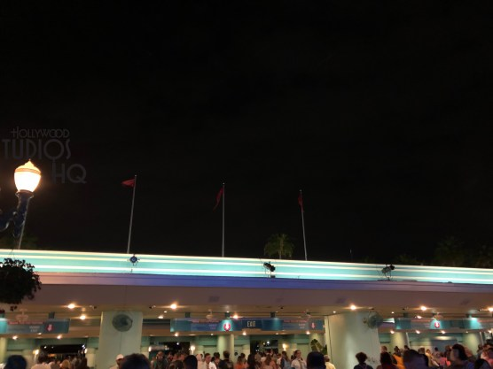 Guests may notice additional special lighting placed in readiness for the Star Wars: Galactic Nights special ticketed event scheduled for May 27. Studio lighting clusters have appeared on roof tops in various locations. Included are the clusters above the Park entrance and exit and ticket booths. Hollywood Blvd and center stage have visible lighting attached to green vertical truss columns. Fans attending this special event will undoubtedly enjoy a unique lighting effect. Disney's Hollywood Studios. Photo by John Capos.