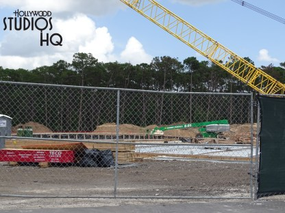 From the initial entrance beginning at Osceola Park Way and Victory Lane, all the way to the edge of current guest parking, the future main Park entrance roadway continues to take shape. Drivers should anticipate night time road closures in the Osceola Parkway area associated with this project. Photos below detail future overpass bridge work as well as grading of the main entrance roadway. Disney's Hollywood Studios. Photo by John Capos