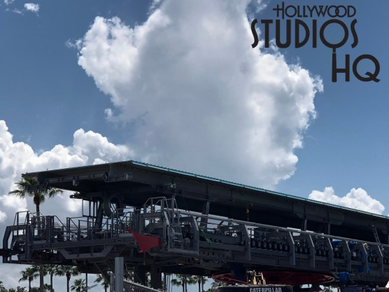 Crews continue to make progress toward completion of the Park's loading and unloading station. New maintenance stairs have been installed at both ends of the station. Likewise, workers have completed the structure's roofing. Once final completion is achieved in the future, guests will enjoy a convenient gondola transportation system which will offer aerial views of the Disney landscape. Disney's Hollywood Studios. Photo by John Capos
