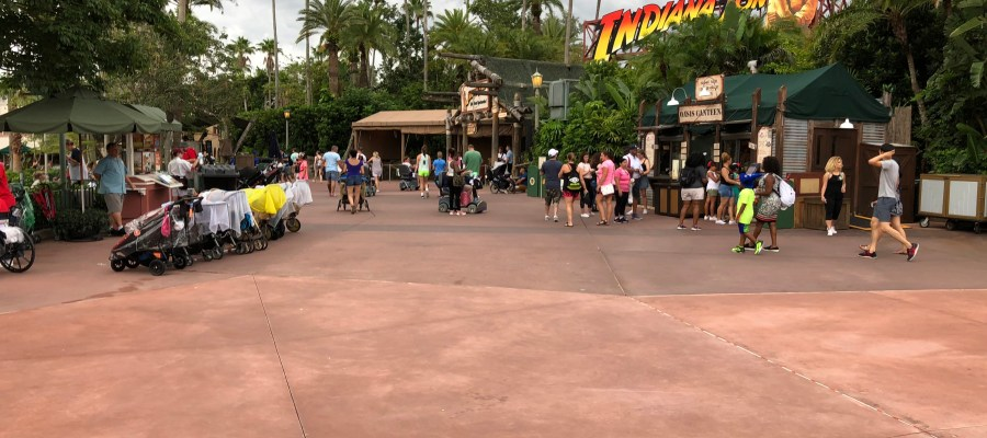 The final sidewalk work underway reported last Week by Hollywood Studios HQ has been completed. Guest foot traffic now flows smoothly on new concrete surfaces throughout the Echo Lake area. This completion wraps up the concrete replacement construction that was initiated this April 2018. Disney's Hollywood Studios. Photo by John Capos